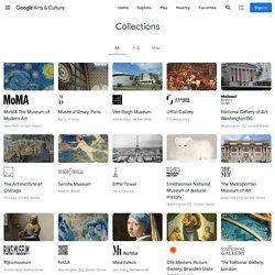 Collections de musées du monde entier. Google art project