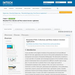Biomedical Web, Collections And Meta-analysis Literature Applications