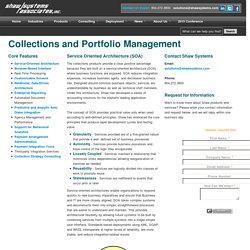 COLLECTIONS Service Oriented Architecture - Shaw Systems Associates, Inc.