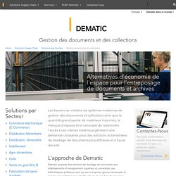 Gestion des documents & collections - Stockage automatisé ASRS