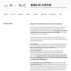 Collections – Biblio-Covid