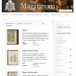 Mazarinum - Les collections numériques incunables