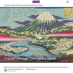 The John Rylands Library Special Collections BlogTravels through Tokugawa Japan