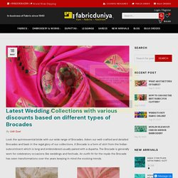 Latest Wedding Collections with various discounts based on different t – Fabric Duniya