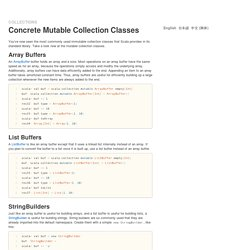 Collections - Concrete Mutable Collection Classes