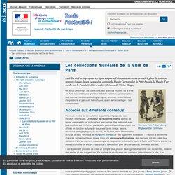 Les collections muséales de la Ville de Paris — Enseigner avec le numérique