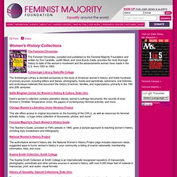Research Center - Women's History Collections - Feminist Majority Foundation