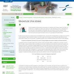 Magnitude d'un séisme-Musée de Sismologie et collections de Géophysique-Université de Strasbourg