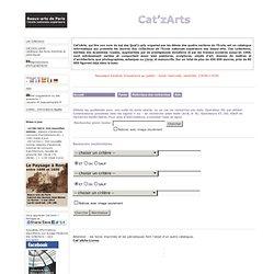 Cat'zArts - Beaux-arts de Paris, collections. Inventaire des oeuvres graphiques, peintures, sculptures, conservées à l'Ecole nationale supérieure des beaux-arts (Ensba). Catalogue en ligne pour une grande part accompagné d'images numériques. Base de donné