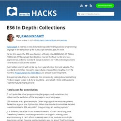 ES6 In Depth: Collections
