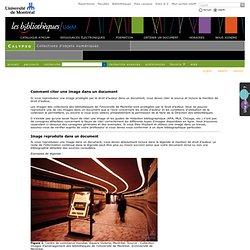 Collections d'objets numériques  Comment citer une image dans un document