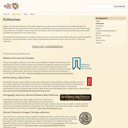 Collections - Old Maps Online: Project