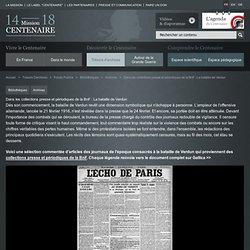 Dans les collections presse et périodiques de la BnF : La bataille de Verdun