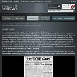 déclaration de guerre des États-Unis : L'Echo de Paris, 6 avril 1917