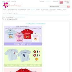 Collections de tee-shirts personnalisés pour enfant motif et texte
