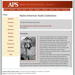 Native American Audio Collections