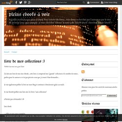 liste de mes collections :) - pleins ebooks à voir