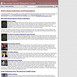 Online Collections and Presentations