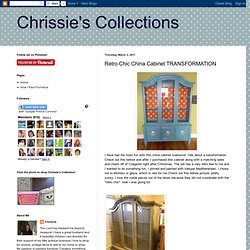 Retro Chic China Cabinet TRANSFORMATION