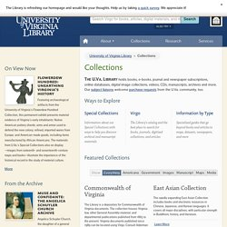 Collections | University of Virginia Library