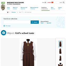 Girl's school tunic - Collections Online