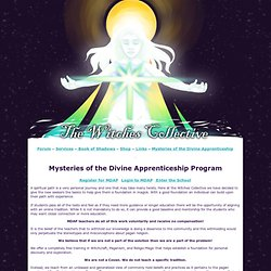 The Witches Collective - Mysteries of the Divine Apprenticeship Program: Free Witchcraft School and Education