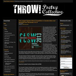 Throw Poetry Collective | Producing, promoting and celebrating poetry in Montreal since 2007.