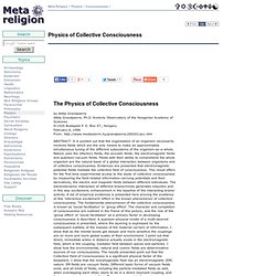 Physics of Collective Consciousness