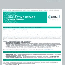 2020 Collective Impact Forum Convening