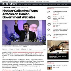 Hacker Collective Plans Attacks on Iranian Government Websites - Tech Talk