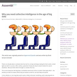 Why you need collective intelligence in the age of big data