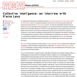 Collective intelligence: an interview with Pierre Levy