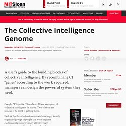 The Collective Intelligence Genome