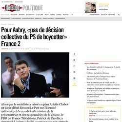 Pour Aubry, «pas de décision collective du PS de boycotter» Fran