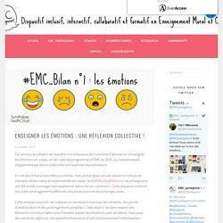 Enseigner les émotions : une réflexion collective ! – EMC, partageons !
