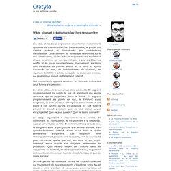 Wikis, blogs et créations collectives renouvelées « Cratyle.net