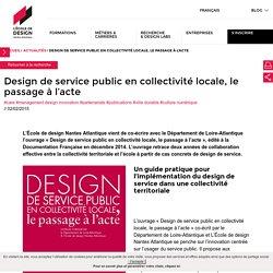 Design de service public en collectivité locale, le passage à l'acte