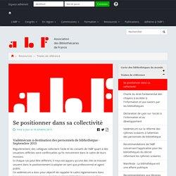 Se positionner dans sa collectivité - Association des Bibliothécaires de France