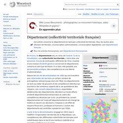 Département (collectivité territoriale française)
