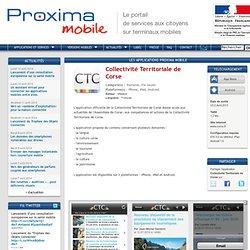 Collectivité Territoriale de Corse sur Proxima Mobile