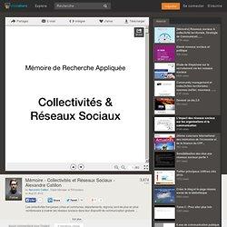 Mémoire - Collectivités et Réseaux Sociaux - Alexandre Catillon