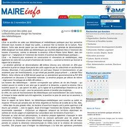 LEtat promet des aides aux collectivités pour élargir les horaires des bibliothèques- Maire-info / AMF