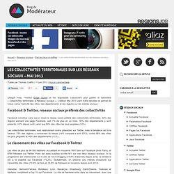 Les collectivités territoriales sur les réseaux sociaux - Mai 2013