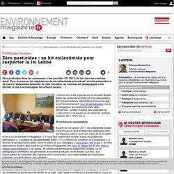Zéro pesticides : un kit collectivités pour respecter la loi Labbé – Territoires – Environnement-magazine.fr