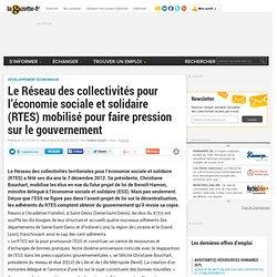 Le Réseau des collectivités pour l'économie sociale et solidaire (RTES) mobilisé pour faire pression sur le gouvernement