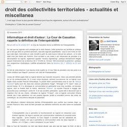 Informatique et droit d'auteur : La Cour de Cassation rappelle la définition de l'interopérabilité