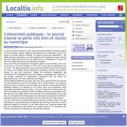 Collectivités publiques : le journal interne se porte très bien et résiste au numérique