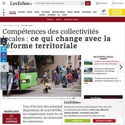 Compétences des collectivités locales: ce qui change avec la réforme territoriale, Collectivités locales