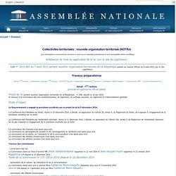Collectivités territoriales : nouvelle organisation territoriale (NOTRe)