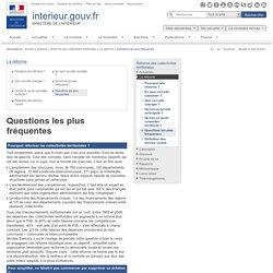 Questions les plus fréquentes / La réforme / Réforme des collectivités territoriales / Archives